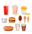 Big group of fast food products vector | Price: 1 Credit (USD $1)