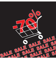 Big sale 70 percentage discount vector image vector image