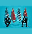 bilateral talks vector image