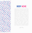 body aches concept with thin line icons vector image vector image