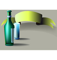Bottle glass tape vector image vector image