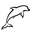 bottlenose dolphin - logo or pictograph vector image vector image