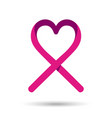 Breast cancer awareness love ribbon in pink color vector image vector image