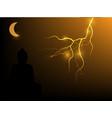 buddha on a lightning background vector image