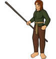 cartoon half elf villager vector image vector image