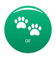 cat step icon green vector image vector image