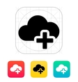 Cloud computing with plus icon vector image vector image