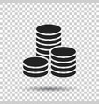 coins stack money stacked coins icon in flat vector image vector image
