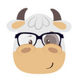 cute little cow character vector image