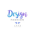 design fashion logo badge for clothes boutique vector image vector image