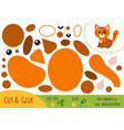 education paper game for children cat vector image vector image