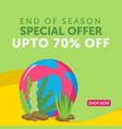end of season special offer banner design vector image