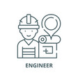engineer and house plan line icon linear vector image vector image