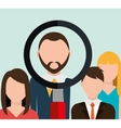 Find person for job opportunity design vector image vector image