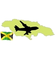 fly me to the Jamaica vector image vector image