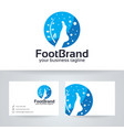 foot brand logo design vector image vector image