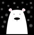 funny cute polar bear vector image