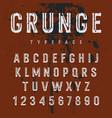 grunge alphabet 008 vector image