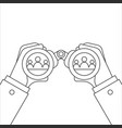 hand and binocular vector image