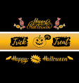 happy halloween cards set all saints eve vector image vector image
