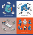 heavy industry isometric design concept vector image