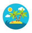 holiday summer island flat circle style vector image vector image