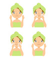 Icons set of skin care cosmetology facial
