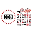 Job Text Flat Icon with Bonus vector image
