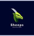 logo sheep head colorful style vector image