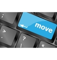 Move button word on keyboard keys Keyboard keys vector image vector image