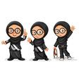 Muslim girl in black costumes vector image
