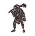 ogre pattern silhouette monster villain fantasy vector image vector image