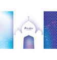ramadan kareem greeting card paper cut mosque vector image vector image