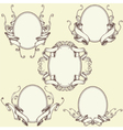 Ribbon Frame Border Ornaments Set 03 vector image vector image