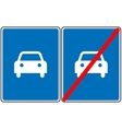 Road for car sign blue symbol Only car vector image vector image