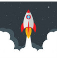 Rocket launch startup concept star sky business