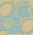 round seamless pattern of random circles vector image