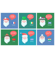 santa claus set of banners vector image vector image