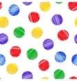 Seamless background Polka dot Marker brush vector image