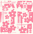 seamless mid century modern spring pattern vector image