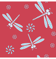 Seamless with dragonflies vector image vector image