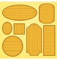 Set of different shapes wooden plates vector image vector image