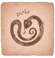 Snake Chinese Zodiac Sign Horoscope Vintage Card vector image