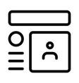 social media profile viewed online on internet vector image vector image