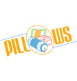sofa and bed pillows linear style vector image vector image