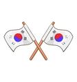 South Korea flags icon cartoon style vector image vector image