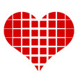 square in heart icon simple style vector image vector image