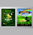 st patrick s day poster design template vector image vector image