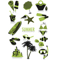 summer silhouettes vector image vector image