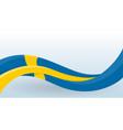 sweden national flag waving unusual shape design vector image vector image